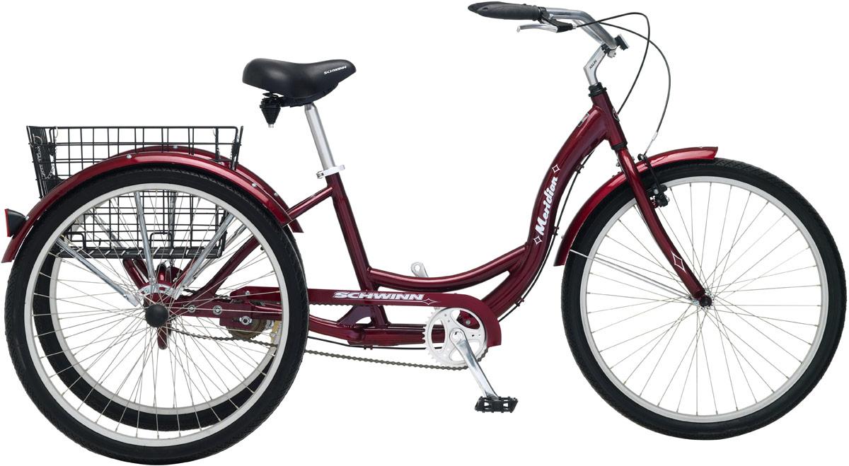 Велосипед городской Schwinn Meridian, цвет: красный, колесо 26