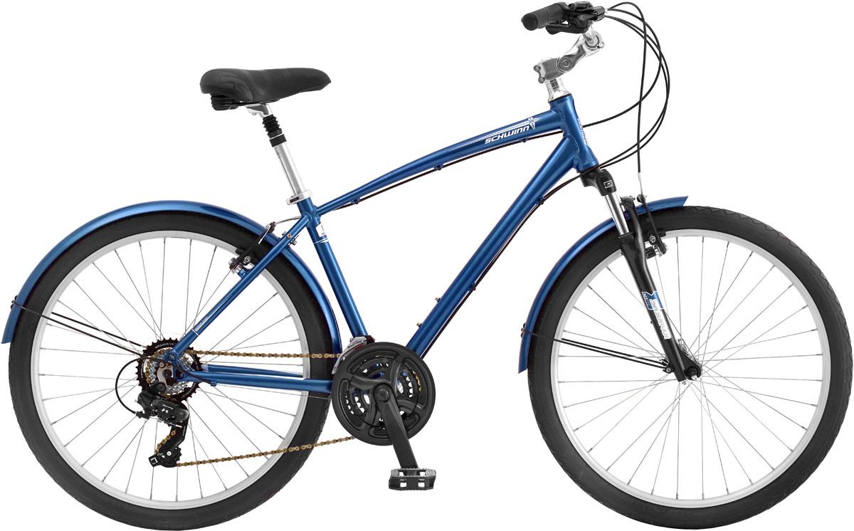 Велосипед городской Schwinn Sierra, цвет: синий, колесо 26, рама L