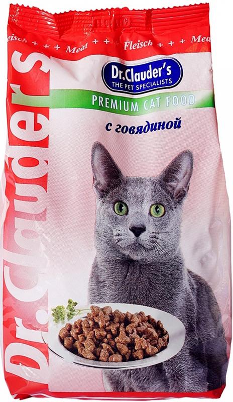 """Корм сухой """"Dr. Clauder's"""" для кошек, с говядиной, 0,4 кг"""