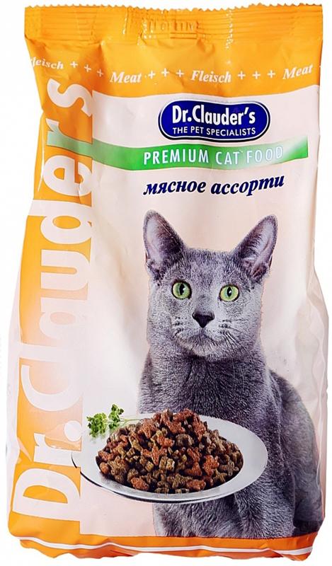 """Корм сухой """"Dr. Clauder's"""" для кошек, мясное ассорти, 0,4 кг"""