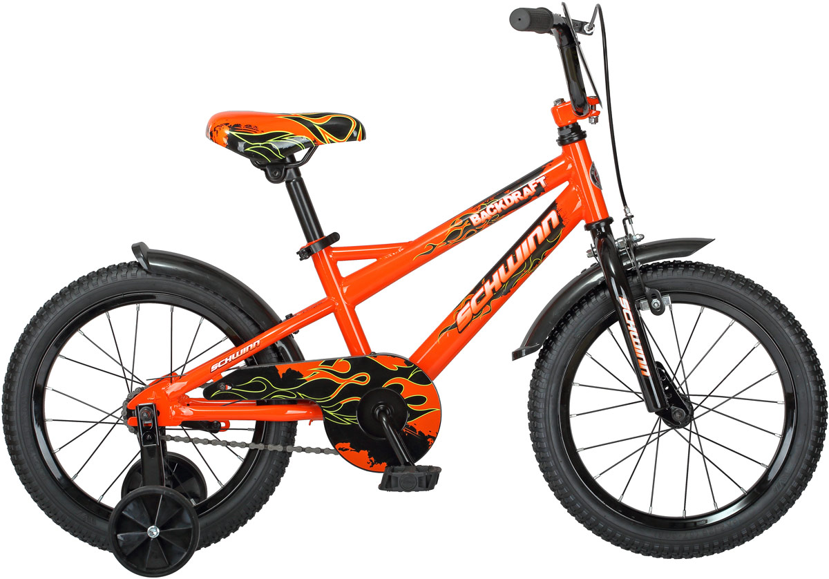Велосипед детский Schwinn Backdraft, цвет: оранжевый, колесо 16
