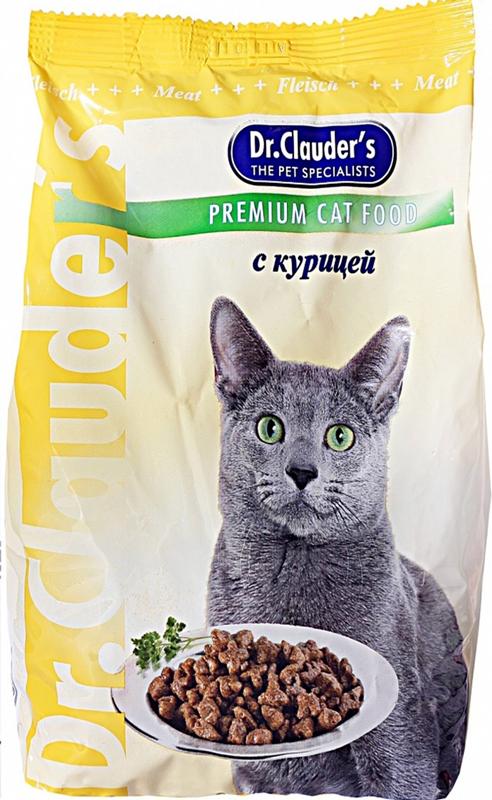 """Корм сухой """"Dr. Clauder's"""" для кошек, курица, 0,4 кг"""