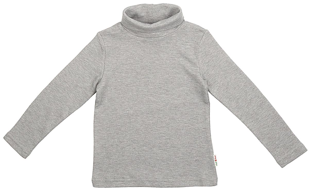 Водолазка для мальчика Frutto Rosso, цвет: темно-серый меланж. FRB72115. Размер 122