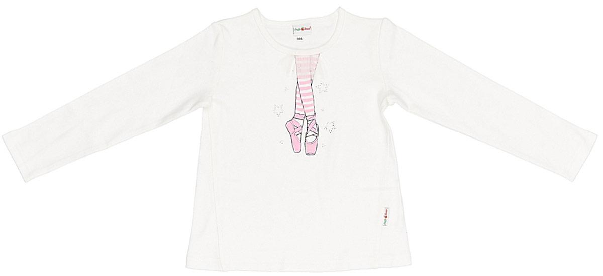Джемпер для девочки Frutto Rosso, цвет: белый. FRG72130. Размер 122 джемперы свитера пуловеры frutto rosso джемпер для мальчика