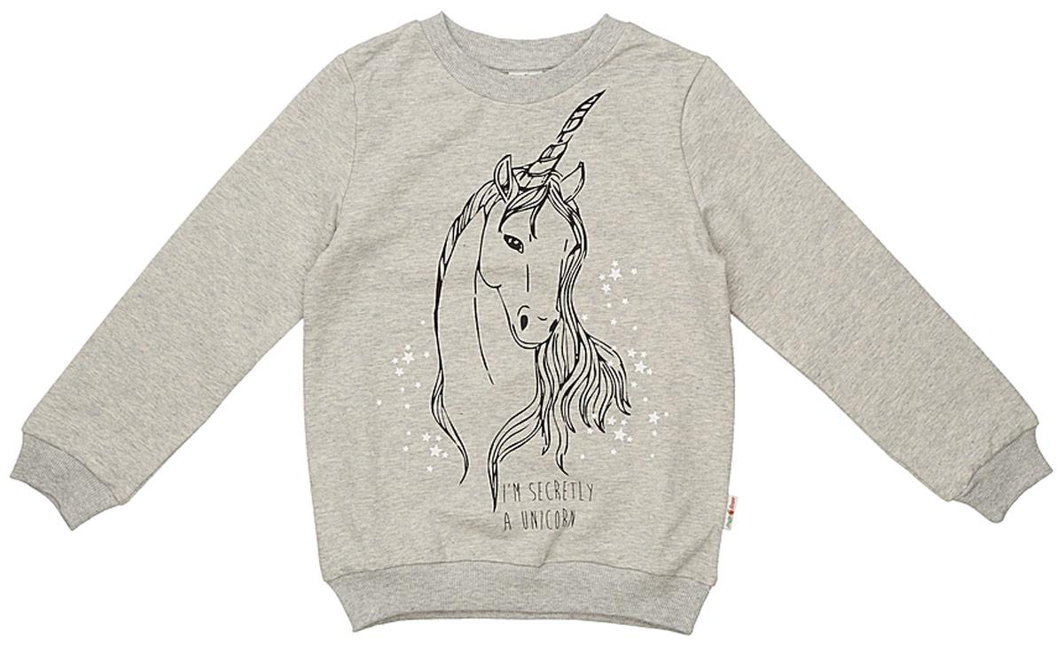 Джемпер для девочки Frutto Rosso, цвет: светло-серый меланж. FRG72150. Размер 152 джемперы свитера пуловеры frutto rosso джемпер для мальчика