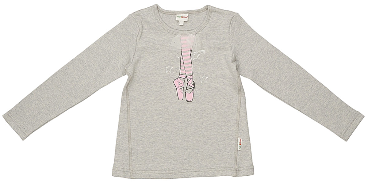 Джемпер для девочки Frutto Rosso, цвет: темно-серый меланж. FRG72130. Размер 122 джемперы свитера пуловеры frutto rosso джемпер для мальчика