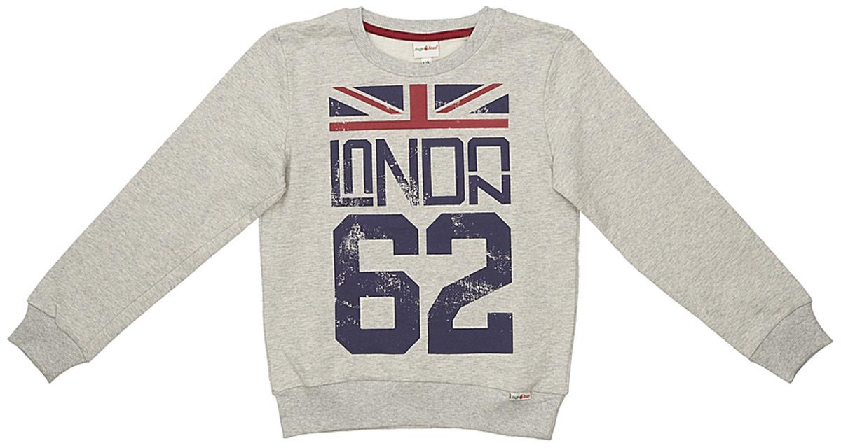 Свитшот для мальчика Frutto Rosso, цвет: светло-серый. FRB72140. Размер 152 джемперы свитера пуловеры frutto rosso джемпер для мальчика
