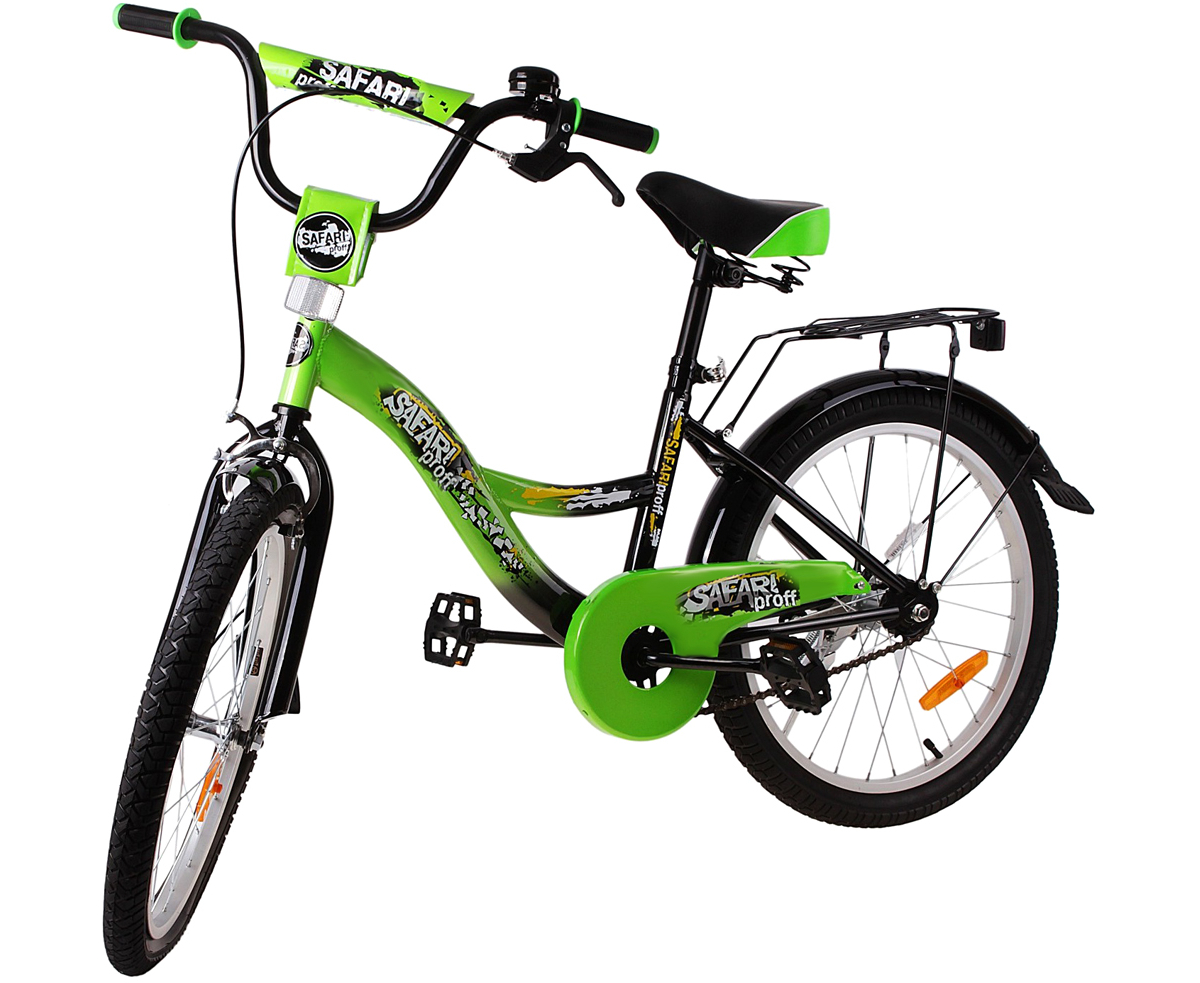 Велосипед детский Safari  Proff. Стихии , двухколесный, цвет: зеленый, колесо 20  - Детские велосипеды