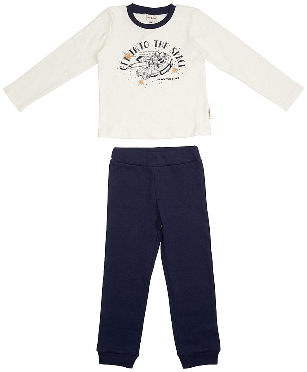 Пижама для мальчика Frutto Rosso, цвет: темно-синий. FRB72112 . Размер 116 джемперы свитера пуловеры frutto rosso джемпер для мальчика