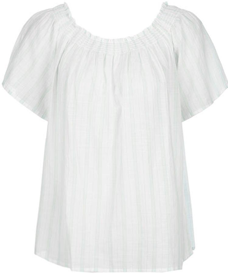 Купить Блузка женская United Colors of Benetton, цвет: белый, голубой. 5YR65Q905_903. Размер M (44/46)