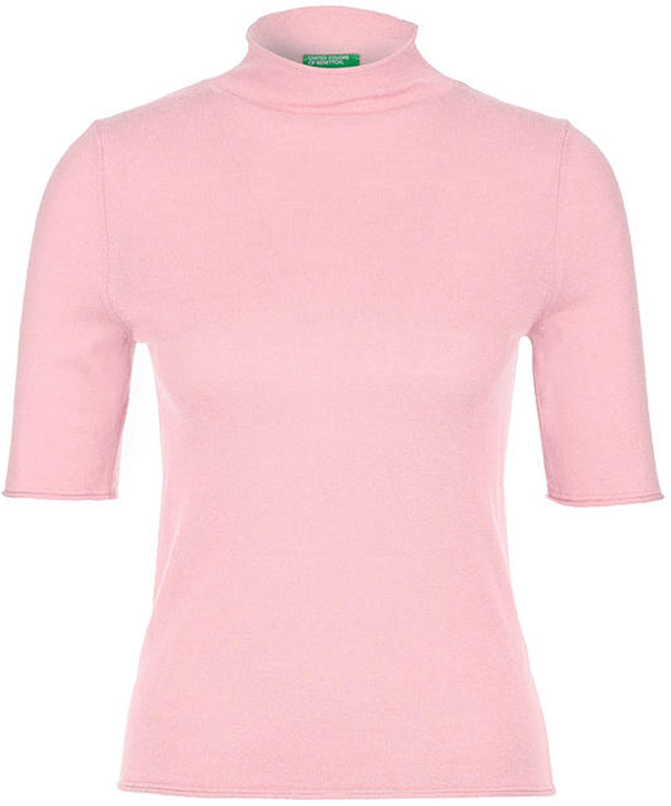 Водолазка женская United Colors of Benetton, цвет: розовый. 109KD2235_09J. Размер L (46/48)