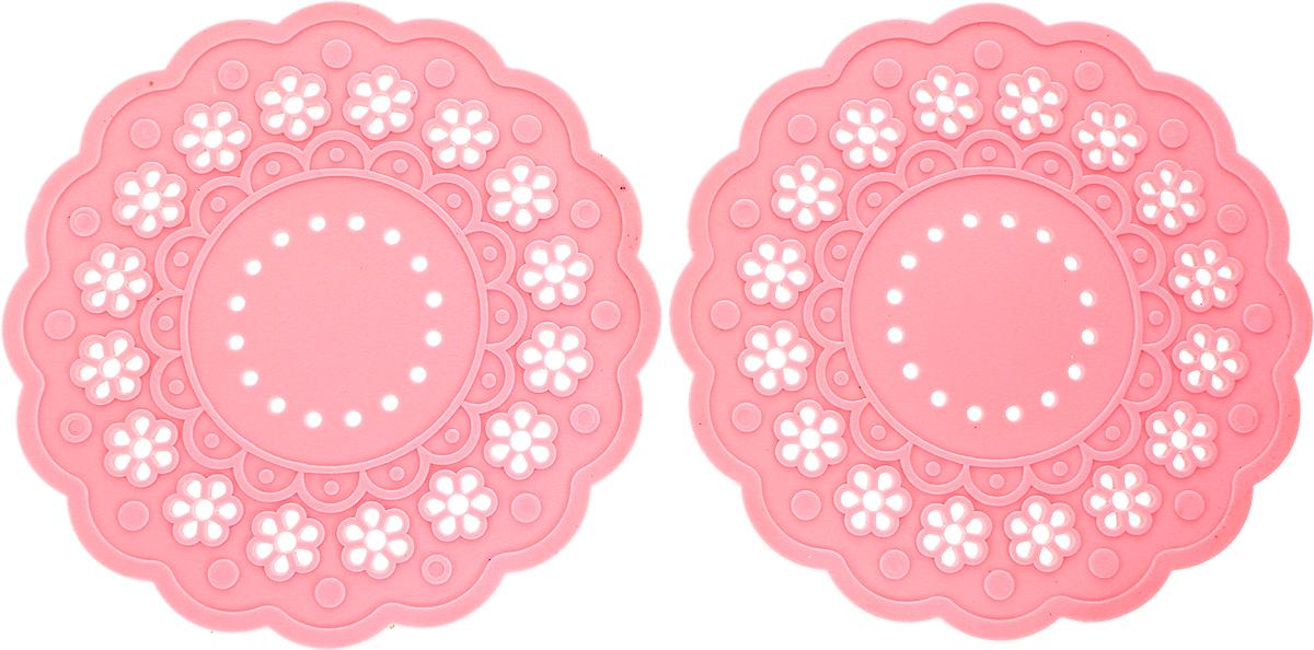 Набор подставок под горячее Доляна Затея, цвет: розовый, 2 шт набор метчиков 14х2мм 2 шт fit 70852