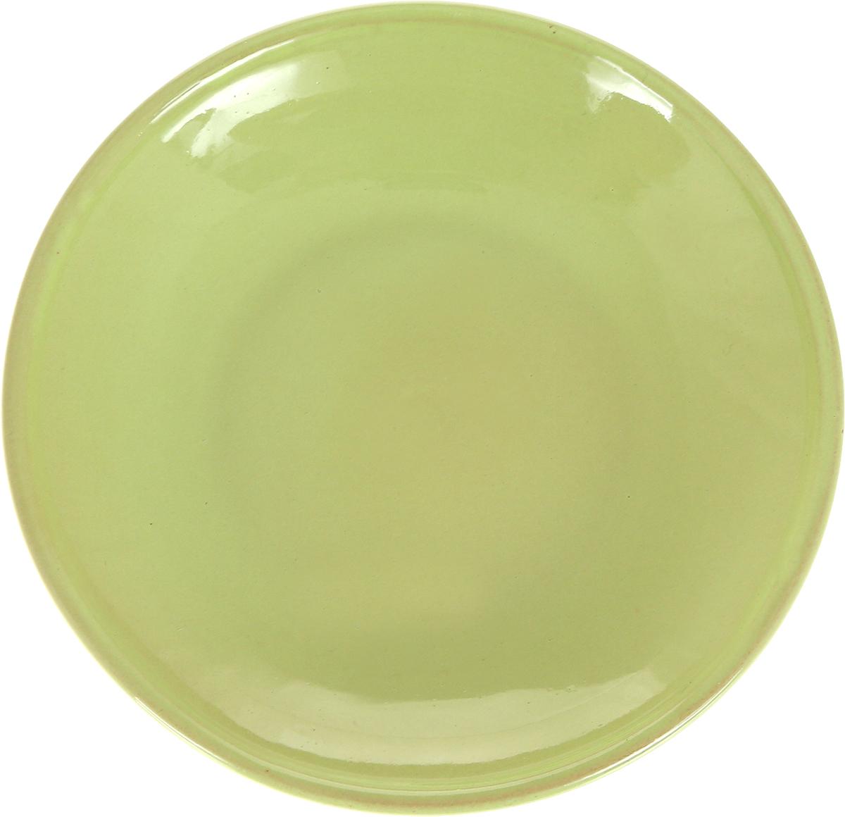 Блюдце Борисовская керамика Радуга, цвет: светло-зеленый, диаметр 10 смРАД14458109_светло-зеленый