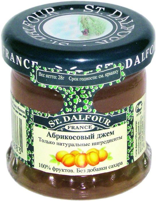 St.Dalfour Джем Абрикос, 28 г207019Без добавления сахара, консервантов, искусственных ароматизаторов и красителей. Содержит только натуральные ингредиенты.