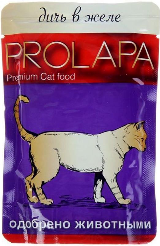 Корм консервированный Prolapa для кошек, дичь в желе, 100 г505002Содержание основных питательных веществ: Протеин 7.0% Жир 4.5% Клетчатка 0.3% Влага 82.0% Ингредиенты: Мясо и продукты животного происхождения (4% дичи), злаки, экстракты растительного белка, минеральные вещества, сахар.