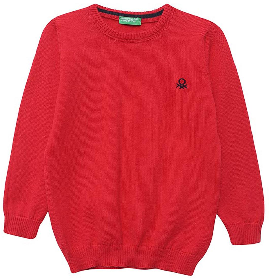 Свитшот для мальчика United Colors of Benetton, цвет: красный. 197IQ1205_219. Размер 140197IQ1205_219Свитшот от United Colors of Benetton выполнен натурального хлопка. Модель с длинными рукавами и круглым вырезом горловины на груди слева оформлена логотипом бренда.