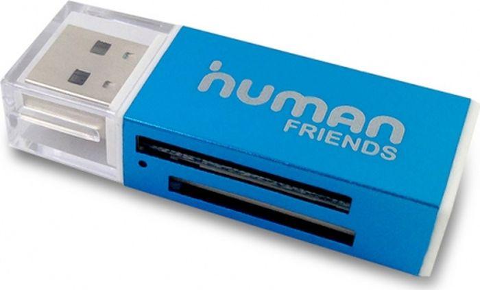 Human Friends Speed Rate Glam, Blue картридерSpeed Rate Glam BlueКартридер модели Human Friends Speed Rate Glam – незаменимое устройство для переноса различной цифровой информации с одного носителя на другой. Пользоваться девайсом очень легко и просто. И даже если вы до этого не пользовались подобными устройствами, вы интуитивно поймете, что делать. Для пользования устройством не нужны драйвера.