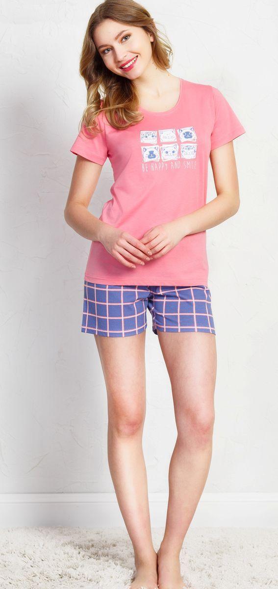 Комплект домашний женский Vienetta's Secret, цвет: розовый. 710037 3587. Размер XL (50) комплект женский ераст