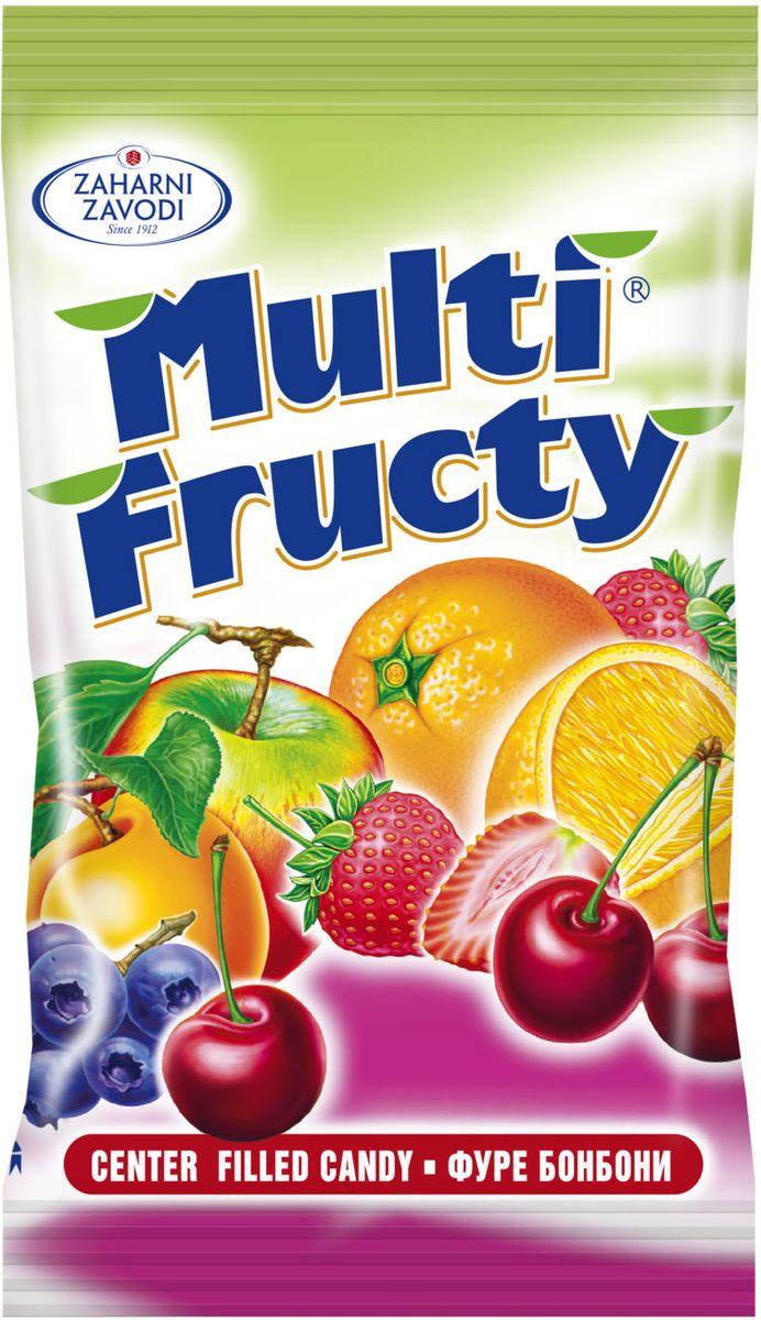 Zaharni Zavodi Multi Fructy Карамель леденцовая с фруктовой начинкой, 100 г e wedel молочный шоколад с фруктовой начинкой персик клюква 100 г