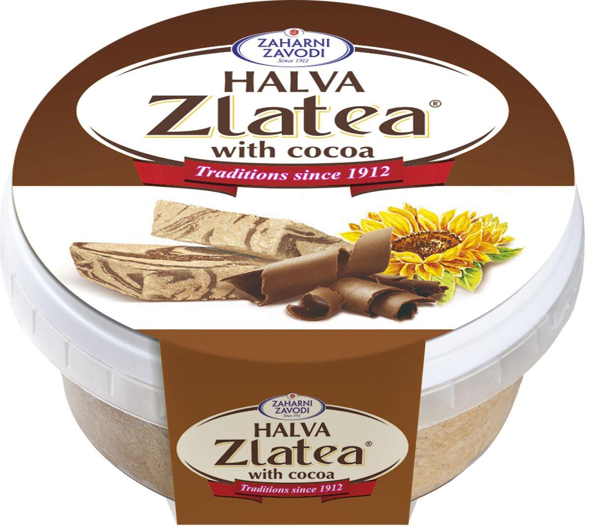 Zaharni Zavodi Zlatea Подсолнечная с какао халва, 280 г zaharni zavodi zlatea подсолнечная халва 420 г