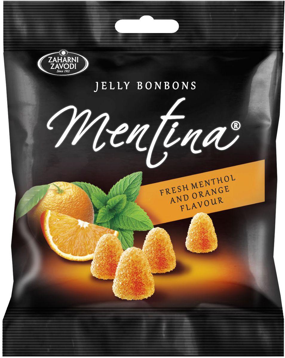 Zaharni Zavodi Mentina жевательный мармелад со вкусом апельсина и ментола, 90 г ударница мармелад со вкусом персика 325 г