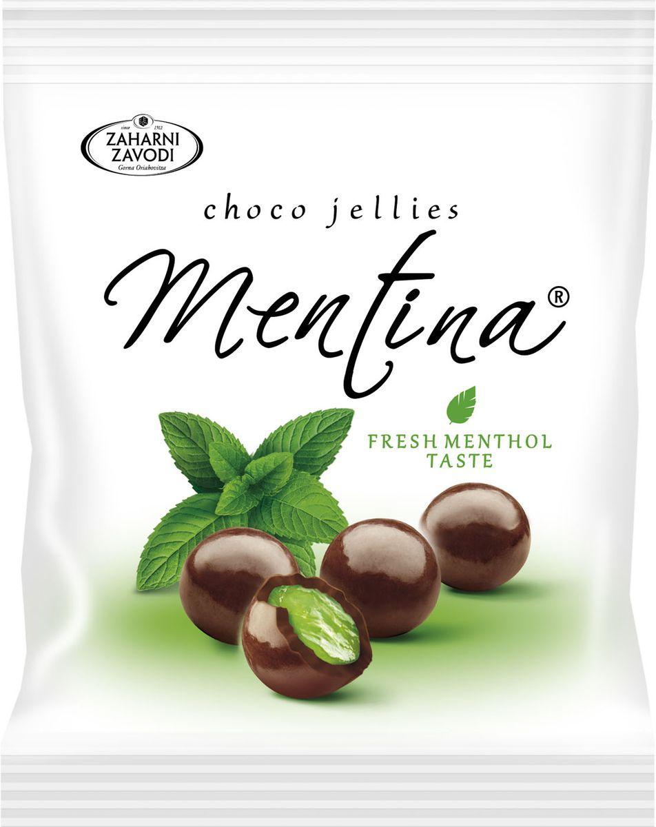 Zaharni Zavodi Mentina Мармеладно-ментоловые шарики в темном шоколаде, 80 г luehders мармелад лимонадный микс 80 г