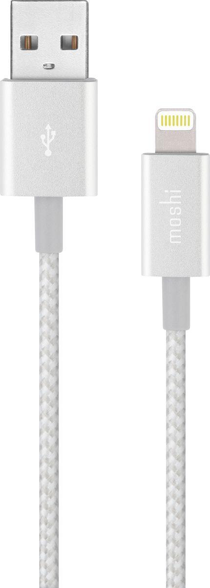 Moshi Integra Jet, Silver кабель USB - Lightning (1,2 м)99MO023104Кабель Moshi Integra Lightning на USB Заряжайте и синхронизируйте вместе с кабелем Lightning на USB-A из серии Integra™ от Moshi. Изготовлен с использованием прочного Кевлара, этот кабель превосходит тестирования, при котором кабель сгибается на 180 градусов более 20,000 раз. Оплетка из баллистического нейлона очень устойчива к истиранию и наконечники из анодированного алюминия выдерживают долговременный износ. На 20% длиннее типичного Lightning кабеля, этот, сертифицированный MFI, кабель для зарядки и синхронизации поддерживает высокую производительность до 12 W зарядных устройств (таких как Rewind или автомобильный Car Charger от Moshi). Оснащенные дополнительной защитой в точках сгиба и сделанные из премиум материалов, кабели из серии Integra от Moshi сделаны на совесть. Характеристики Кевларовый кабель превосходит более 20,000 сгибаний (на 180 градусов). Оплетка из баллистического нейлона устойчива к истиранию и предотвращает запутывание кабеля. На 20% длиннее типичного Lightning кабеля. Алюминиевый корпус с дополнительной защитой в точках сгиба. Поддерживает до 12 W (5 V/2.4 A) производительности для iOS устройств. В комплект включен органайзер кабеля HandyStrap. Поддерживает скорость передачи данных USB 2.0 до 480 Мбит/с.