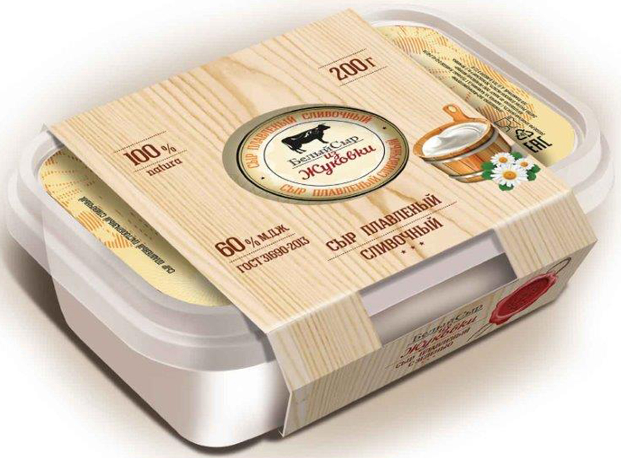 Белый сыр из Жуковки Сыр Сливочный, плавленый 60%, 200 г приманка для вредителей родемос мыши вон сыр 100 г