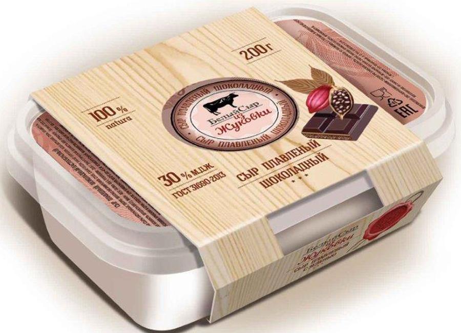 Белый сыр из Жуковки Сыр Шоколадный, плавленый 30%, 200 г le superb сыр диаболо гурме 200 г