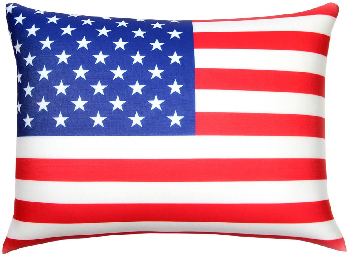 Подушка антистрессовая Штучки, к которым тянутся ручки Флаги. США, цвет: красный, синий, 40 x 30 см16асп34ив-4Антистрессовая подушка из эластичного трикотажа с наполнителем из вспененного полистирола. Мягкий и приятный на ощупь материал, наполнитель вспененный полистирол - абсолютно безопасный и гипоаллергенный. Подушка - антистресс станет идеальным подарком для любого вашего знакомого, независимо от возраста! Размер 40*30 см.