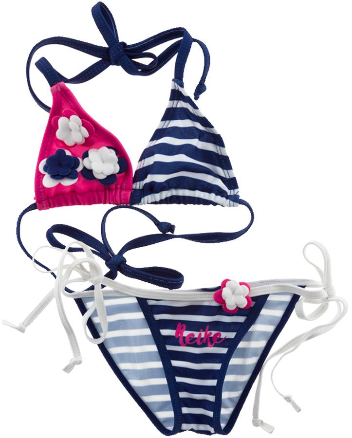 Купальник раздельный для девочки Reike, цвет: фуксия, синий. RS18_NTC5 fuchsia. Размер 128, 8 лет купальник раздельный 8 16 лет