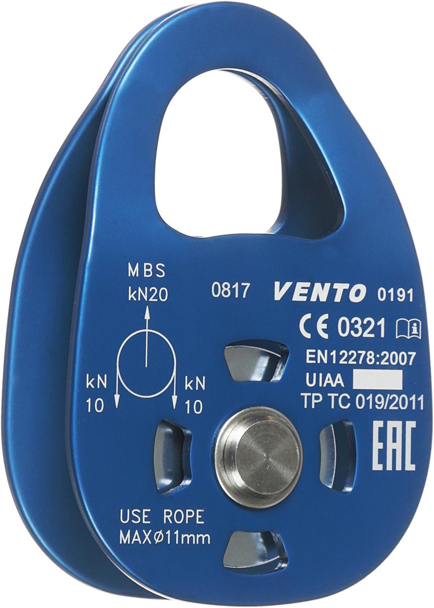 Блок- ролик Vento Single, одинарный, дюраль с подшипником, цвет: синий