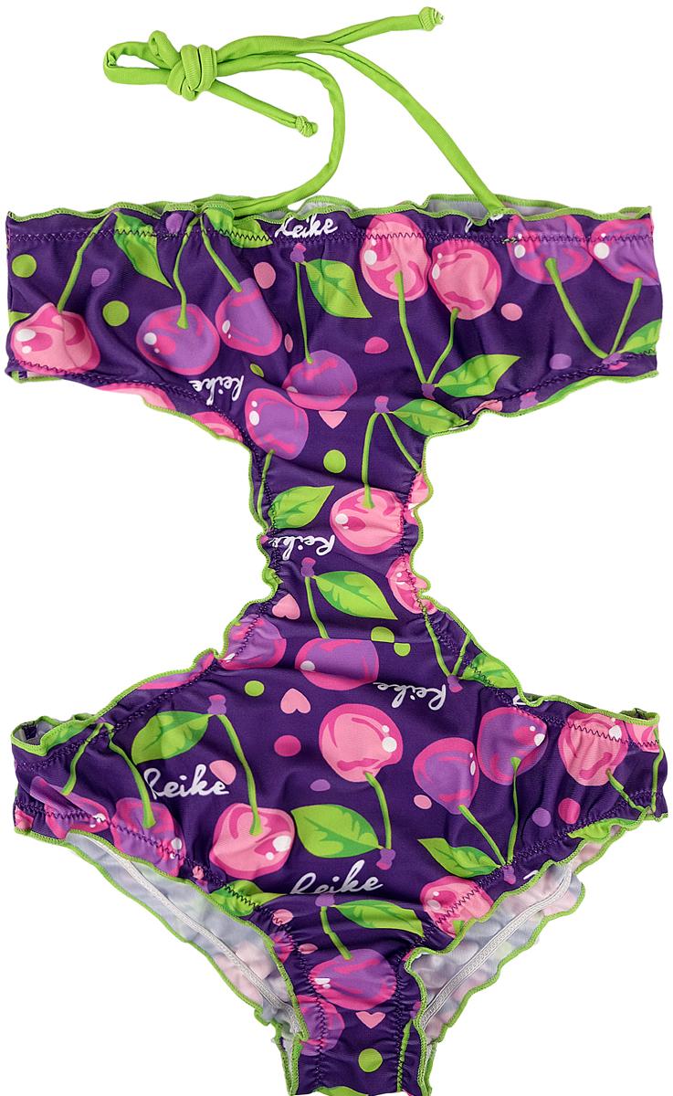 Купальник слитный для девочки Reike, цвет:  фиолетовый.  RS18_CHR3 violet.  Размер 122, 7 лет Reike