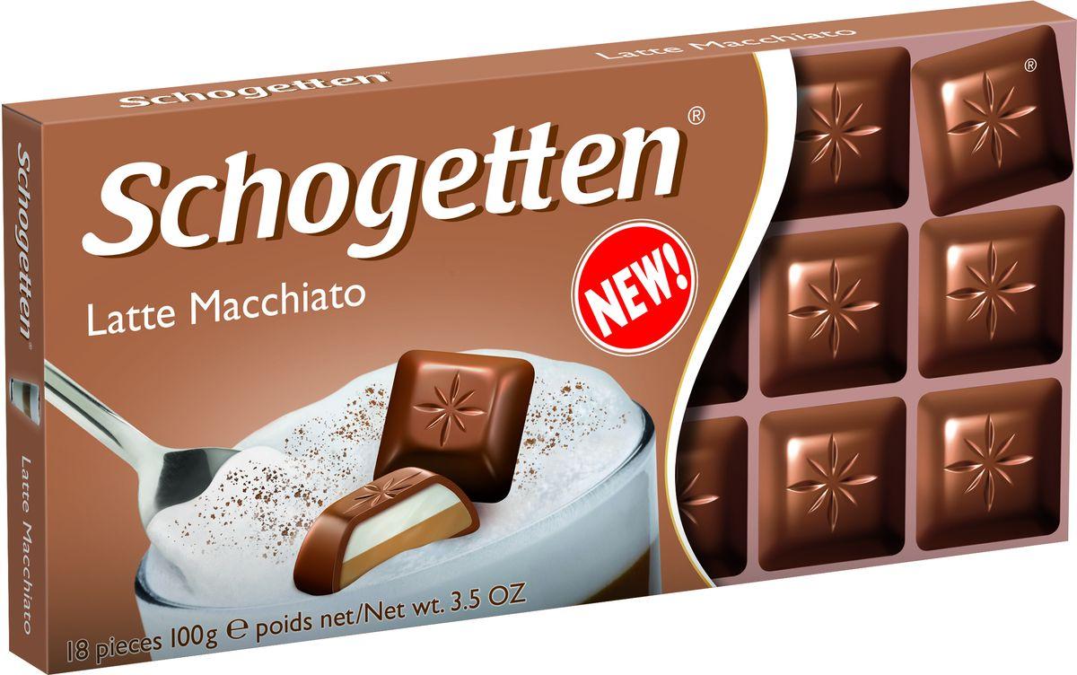 Schogetten Альпийский молочный шоколад с кремовой кофейно-молочной начинкой , 100 г цена