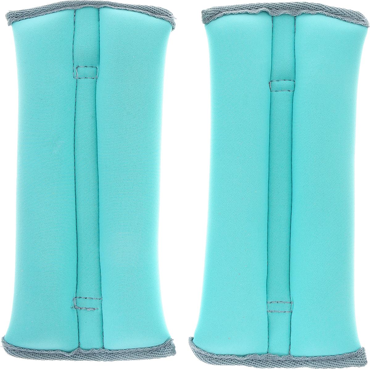 Утяжелитель спортивный Indigo Неопреновые, цвет: мятный, 0,5 кг, 2 шт утяжелитель браслет для рук и ног indigo цвет красный 0 2 кг 2 шт