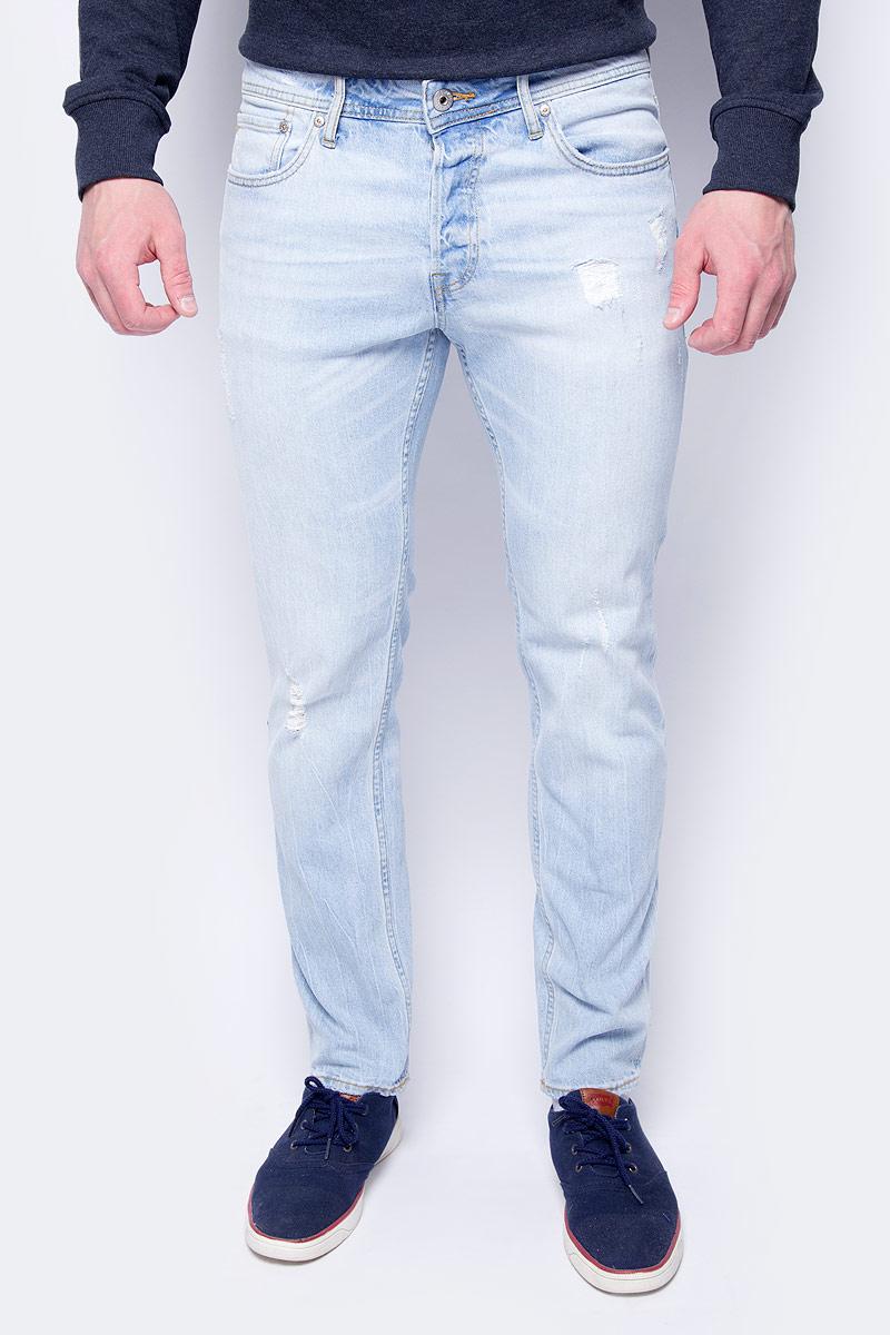 Джинсы мужские Jack & Jones, цвет: голубой. 12125562_Blue Denim. Размер 32-32 (46/48-32)