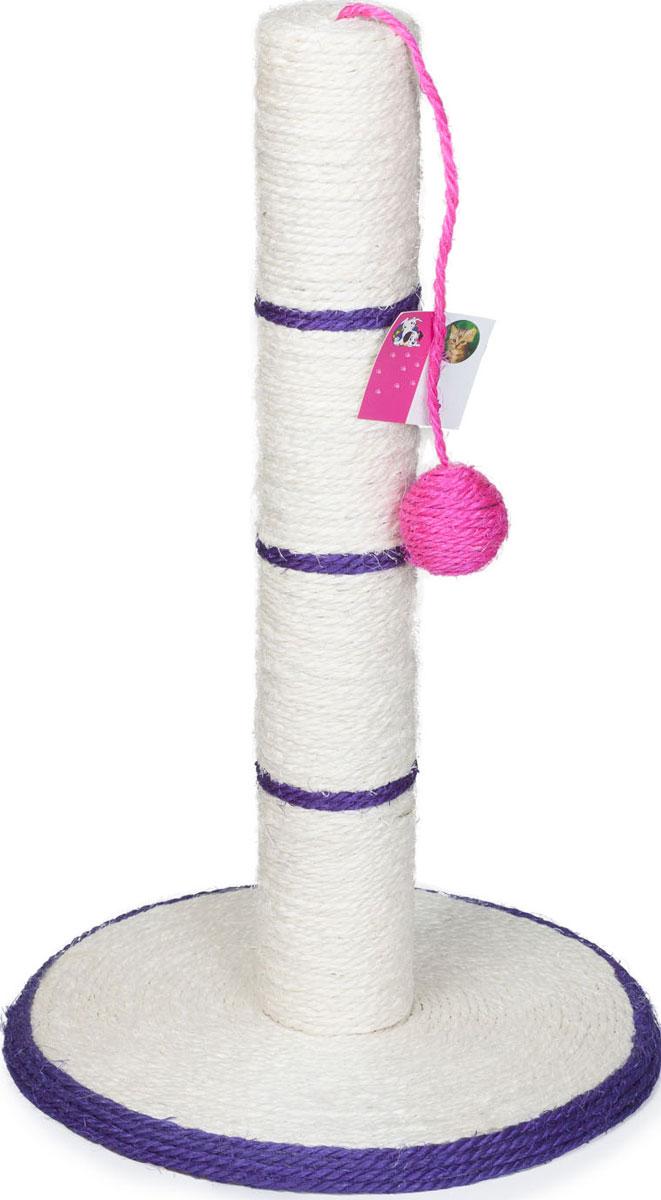 Когтеточка MrPet Столбик с цветным мячом, 30 х 46 см когтеточка столбик beeztees lesley цвет серый 35 х 35 х 60 см