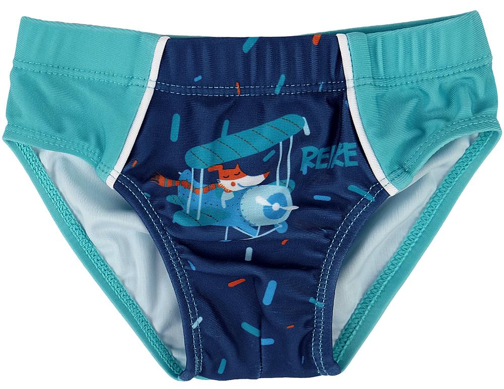 Купальные плавки для мальчика Reike, цвет: темно-синий. RS18_TRV2 navy. Размер 104, 4 года