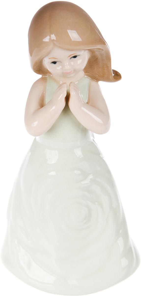 Фигурка декоративная Elan Gallery Девочка в бирюзовом платье, 6,2 х 4,5 х 13 см фигурка декор 9 5 7 13 см задумчивая девочка в коралловом платье 1287519