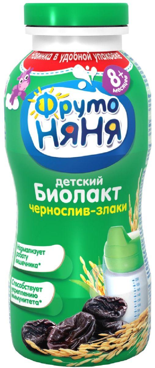 Фрутоняня Биолакт Чернослив и злаки 2,9%, 200 мл