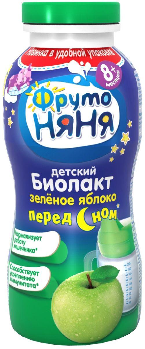 Фрутоняня Биолакт Яблоко 2,9%, 200 мл биолакт фрутоняня с сахаром 3 2