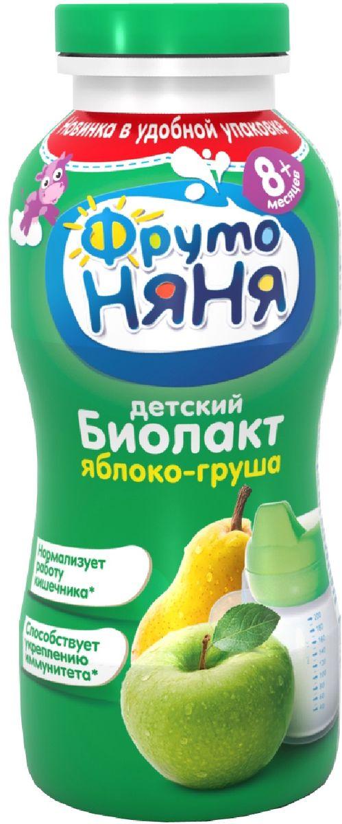 Фрутоняня Биолакт Груша и яблоко 2,9%, 200 мл биолакт фрутоняня с сахаром 3 2