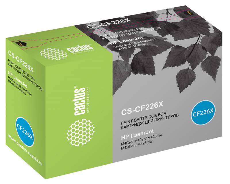 Cactus CS-CF226X, Black тонер-картридж для HP LJ M402d/M402n/M426dw/M426fdn/M426fdw cactus cs cf230a black тонер картридж для hp lj 203 227
