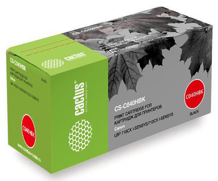 Cactus CS-C040HBK, Black тонер-картридж для Canon LBP 710CX/712CX тонер cactus cs c711bk