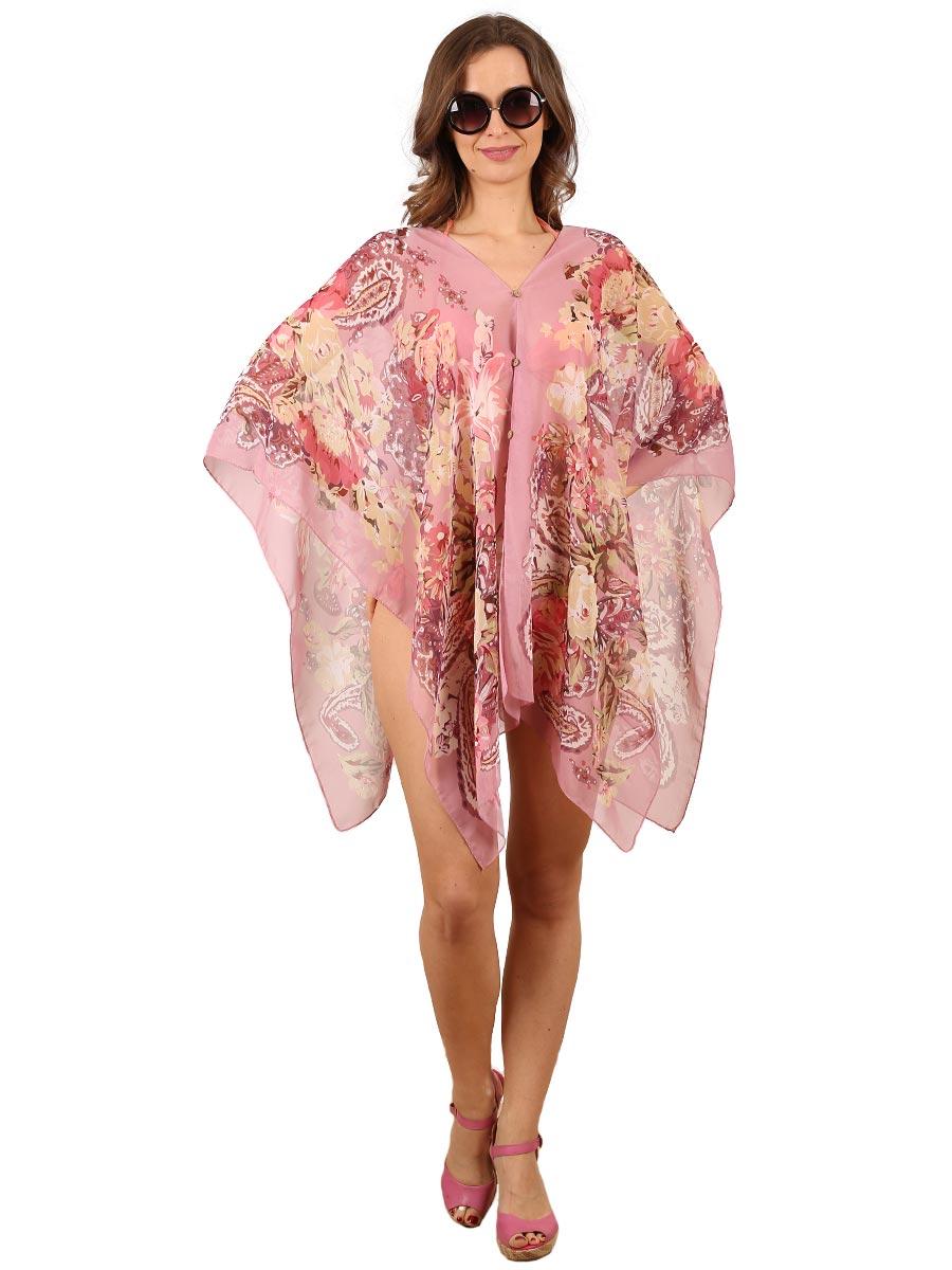 Туника женская Venera, цвет: розовый, бежевый, бордовый. 1500388. Размер 44/54 туника матекс мэри эм цвет бордовый