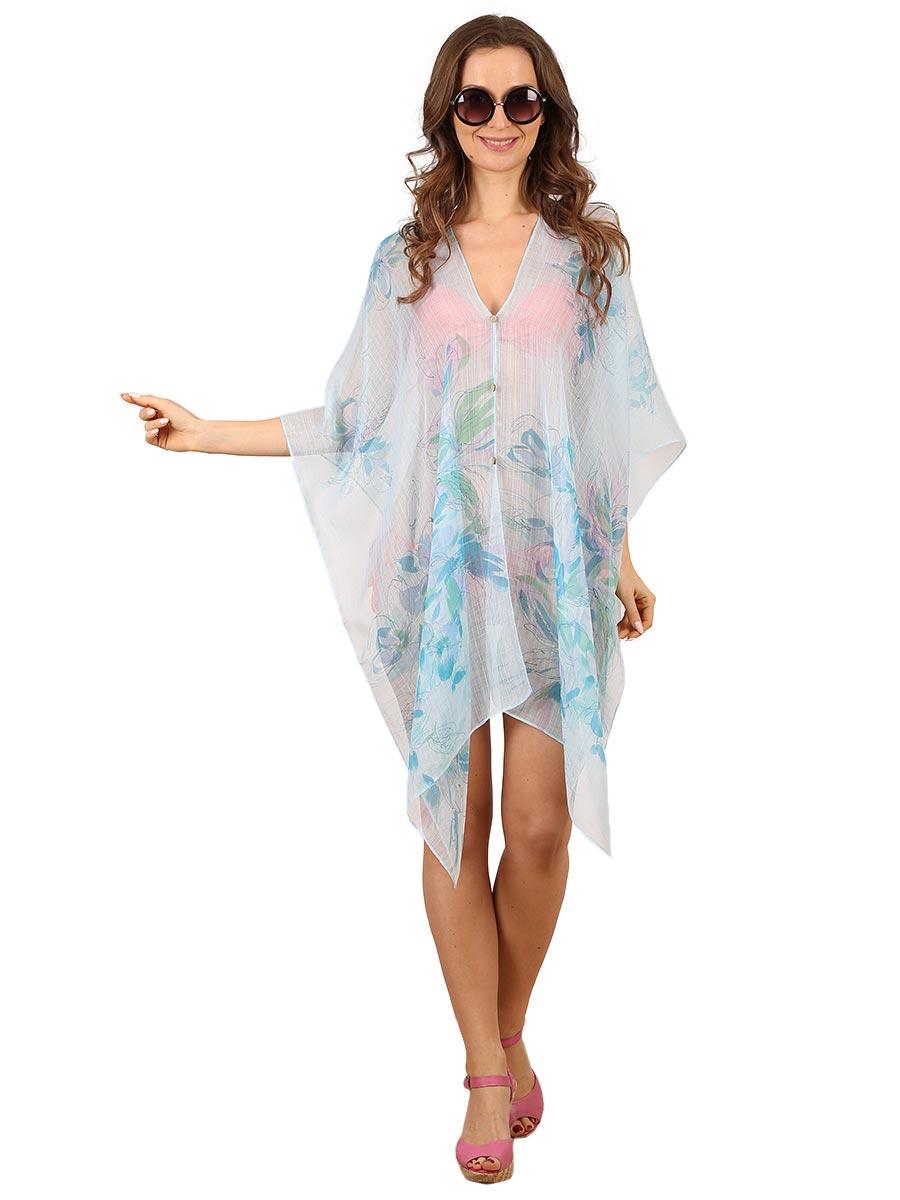 Туника женская Venera, цвет: голубой, бирюзовый. 1500288. Размер 44/54 женская туника платье дана размер 54