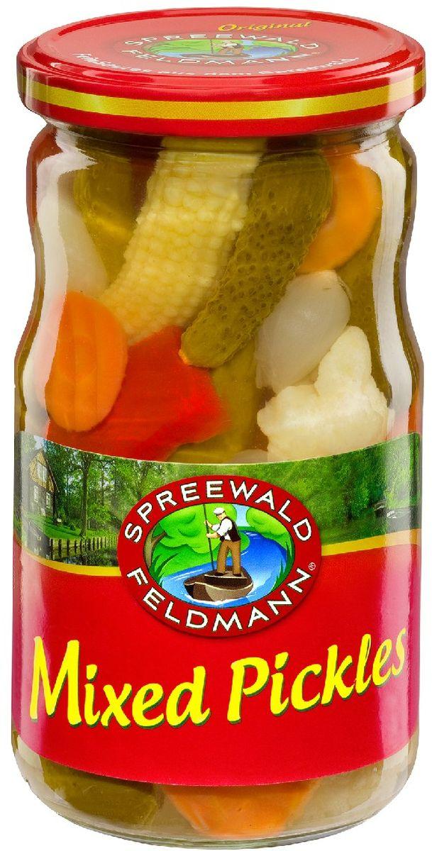 Spreewald Feldmann Ассорти овощное, 370 мл ольхов олег рыба морепродукты на вашем столе салаты закуски супы второе