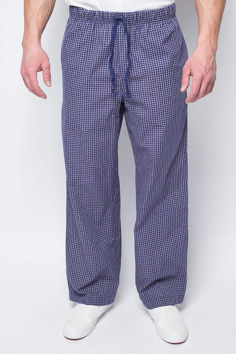 Брюки мужские Sela, цвет: темно-синий. PH-265/094-8132. Размер M (48)PH-265/094-8132Стильные мужские брюки Sela, изготовленные из хлопка, станут отличным дополнением гардероба. Брюки прямого кроя и стандартной посадки на талии имеют широкий пояс на мягкой резинке, дополнительно регулируемый шнурком. Модель дополнена двумя втачными карманами спереди.