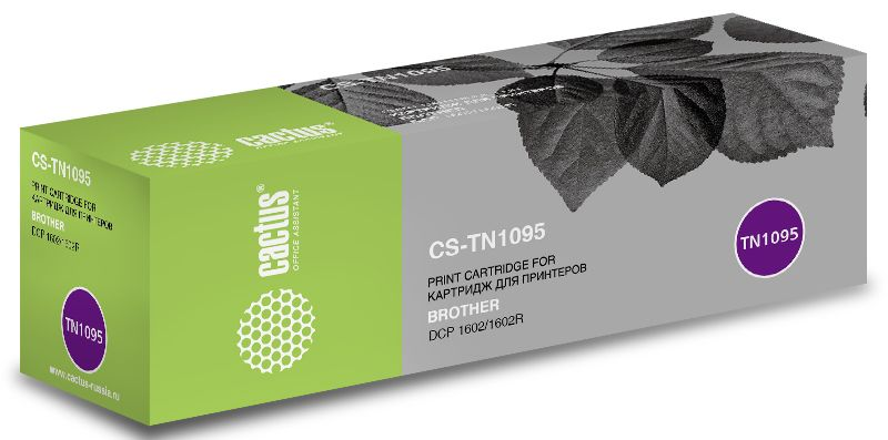 Cactus CS-TN1095, Black тонер-картридж для Brother DCP 1602/1602R туфли fruit