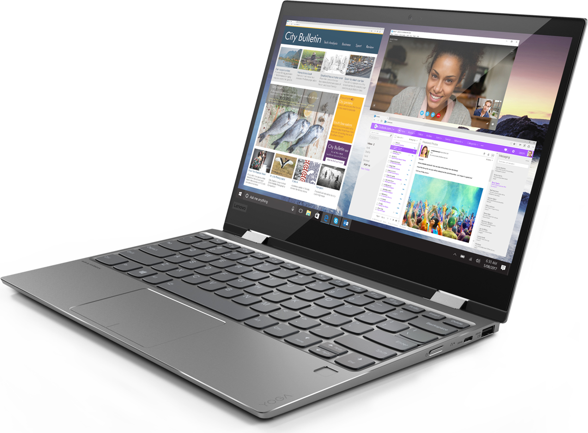 Lenovo Yoga 720-12IKB, Grey (81B5004LRK) for lenovo yoga 720 13 3 15 6 inch tablet laptop sleeve case pu leather detachable cover 720 13 720 15 full protection